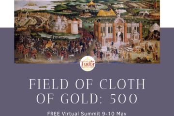 Tudor Travel Guide poster for the Field of Cloth of Gold virtual summit 2020